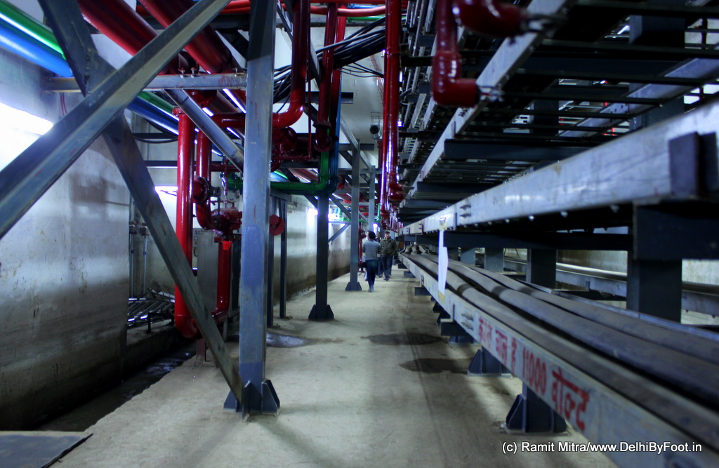 A 7 metres x 7metres utility tunnel has been created under the part which lies between the Outer and Inner Circles of CP
