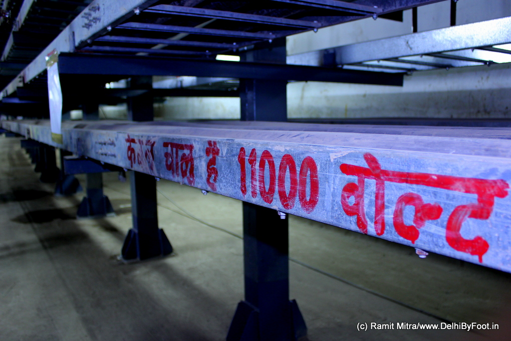 """""""Cable Chaloo Hai 11000 Volts"""" The cables supplying electricty to CP and around CP have been already laid out and these racks are dangerous to touch!"""