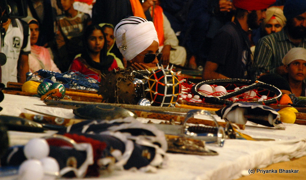 The weapons of Gatka, swords, sticks, spears, small daggers and many more.