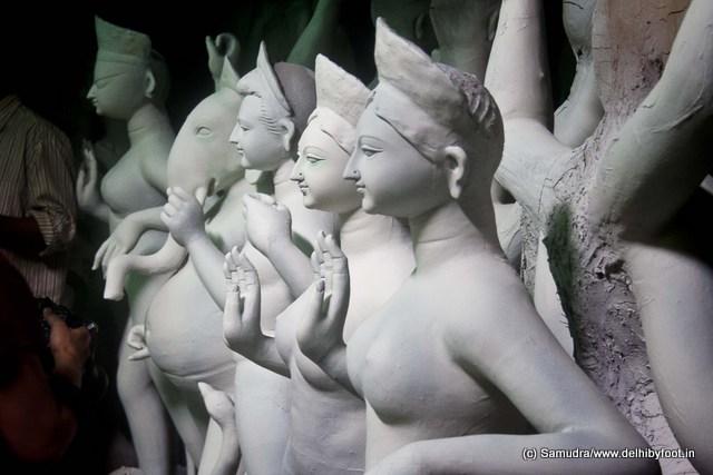 The children of the goddess ... saraswati, lakshmi, kartik and ganesh ... মামা বাড়ি ভারী মজা ...