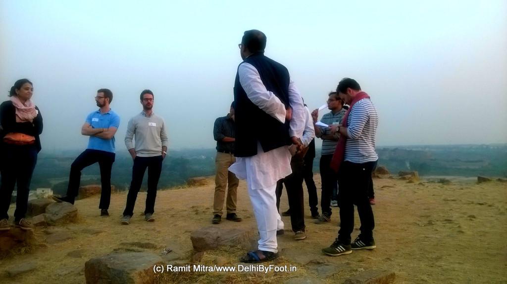 Atop Tughlaqabad Fort