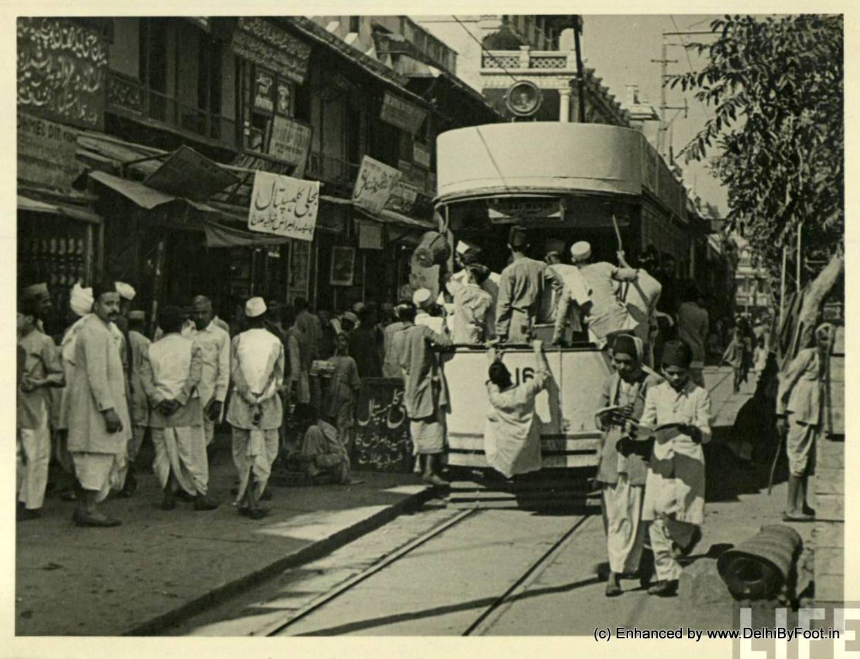 World Photography Day: When Trams Criss-crossed Old Delhi