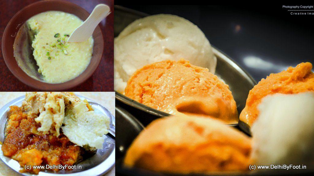 Mango ice cream, Shahi Tukda, Phirni